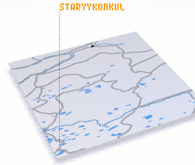 3d view of Staryy Konkul\