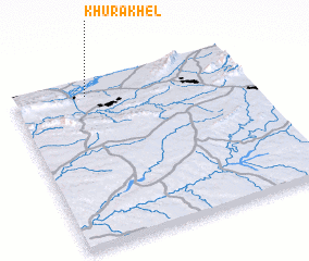 3d view of Khura Khel