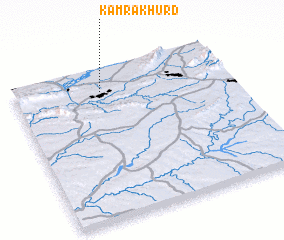 3d view of Kāmra Khurd