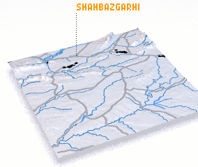 3d view of Shāhbāzgarhi