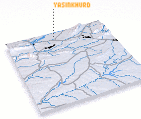 3d view of Yāsīn Khurd