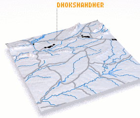 3d view of Dhok Shāh Dher