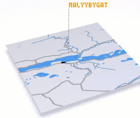 3d view of Malyy Bygat