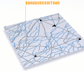 3d view of Bahādurke Hithār