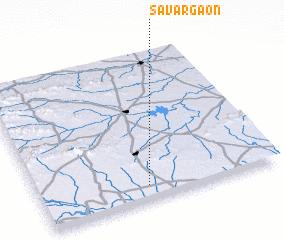 3d view of Sāvargaon