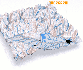 3d view of Shergarhi
