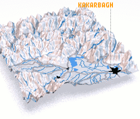 3d view of Kakarbāgh