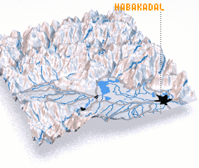 3d view of Haba Kadal
