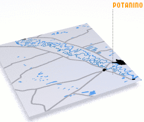 3d view of Potanino