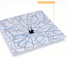 3d view of Bodakonda