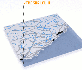3d view of Ytre Skålevik