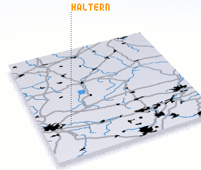 Haltern germany map nona 3d view of haltern sciox Image collections