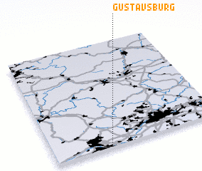 3d view of Gustavsburg