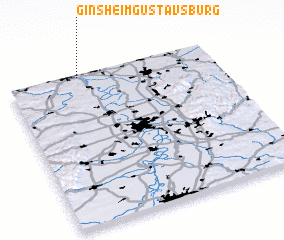 3d view of Ginsheim-Gustavsburg