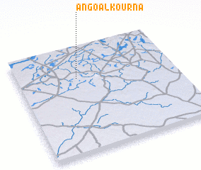 3d view of Angoal Kourna