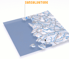 3d view of San Salvatore