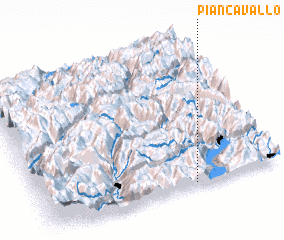 3d view of Pian Cavallo