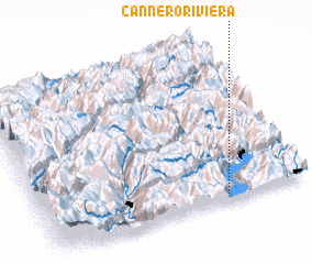3d view of Cannero Riviera