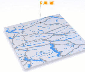 3d view of Rjukan
