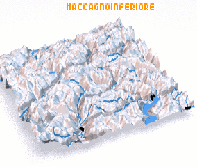 3d view of Maccagno Inferiore
