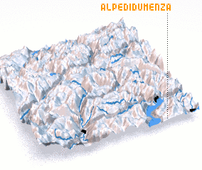3d view of Alpe di Dumenza