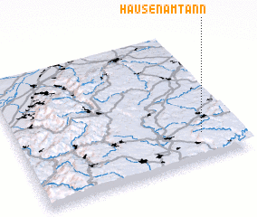 3d view of Hausen am Tann
