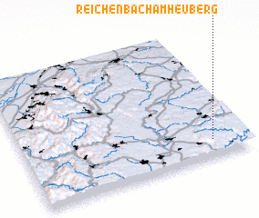 3d view of Reichenbach am Heuberg