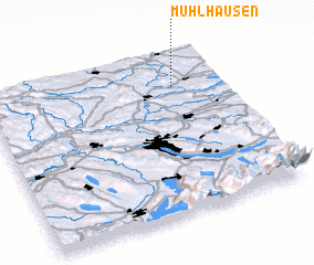 3d view of Mühlhausen