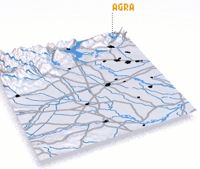 3d view of Agra