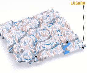 3d view of Lugano