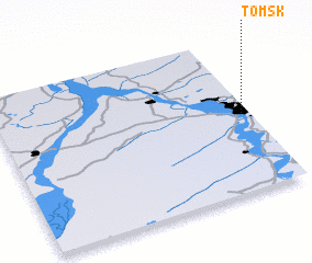 3d view of Tomsk