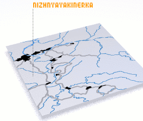 3d view of Nizhnyaya Kinerka