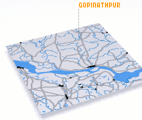3d view of Gopīnāthpur
