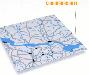 3d view of Chak Kāmārhāti