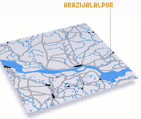3d view of Ārāzi Jālālpur