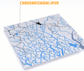 3d view of Chakdari Saidālipur