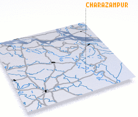 3d view of Char Āzampur