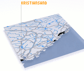 3d view of Kristiansand