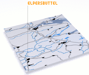 3d view of Elpersbüttel