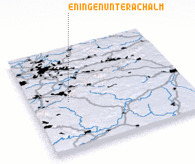 3d view of Eningen unter Achalm