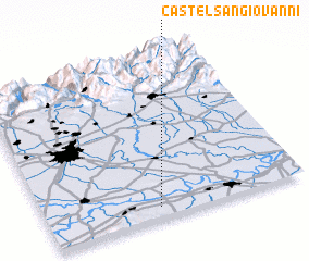 3d view of Castel San Giovanni