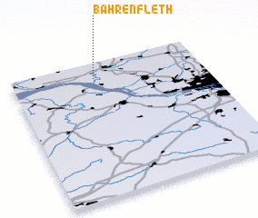3d view of Bahrenfleth