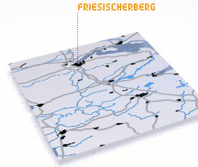 3d view of Friesischer Berg