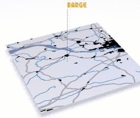 3d view of Barge