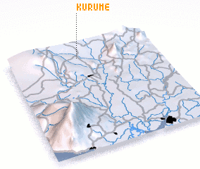 3d view of Kurume
