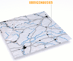 3d view of Übrigshausen