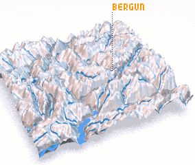 3d view of Bergün