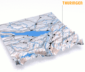 3d view of Thüringen