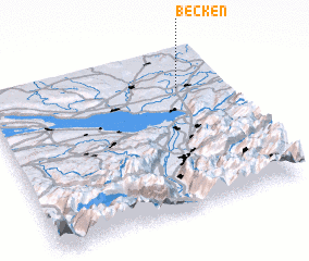 3d view of Becken