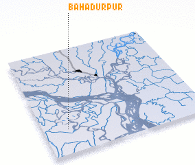 3d view of Bāhādurpur